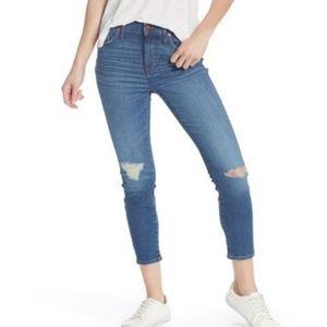 Madewell hi rise skinny crop jeans 32